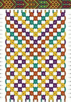 bracelet patterns - gonna make this but with really summer-y colors!Friendship bracelet patterns - gonna make this but with really summer-y colors! Loom Bracelet Patterns, Macrame Patterns, Bracelet Designs, Thread Bracelets, Macrame Bracelets, Handmade Bracelets, Pandora Bracelets, Ankle Bracelets, Making Friendship Bracelets