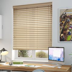 Tallow Cream Wooden Blind - 50mm Slat from Blinds 2go