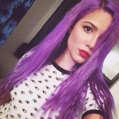 Halsey Hairstyles: Blue, Pink & Purple Hair Photos ❤ liked on Polyvore featuring hair and hair styles