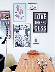 """The graphic home of Kathrine Højriis - via cocolapinedesign.com ::I want that poster """"Love the Process"""""""