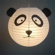Make your own panda lanterns. Use a standard round paper lantern as the base. A… Make your own panda lanterns. Use a standard round paper lantern as the base. Panda Themed Party, Panda Birthday Party, Panda Party, Lantern Crafts, Lanterns Decor, Kids Lantern, Hl Martin, Tissue Paper Lanterns, Panda Craft