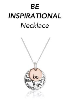 4b834be476 An inspirational necklace with a powerful message. Bling Shoes, Pretty  Necklaces, Cute Fashion