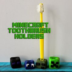 Minecraft Toothbrush Buddies