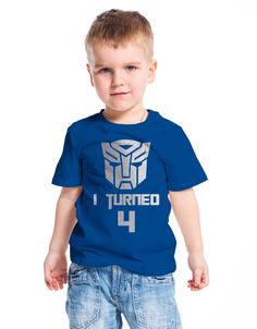 Transformers inspired child birthday party t-shirt with customized text. by MumKnowsBabyGrows on Etsy