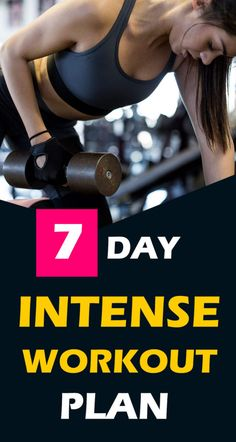 Get into shape with this workout plan. This best one-week workout plan will work on your abs, chest, legs, and shoulder to burn your body fat fast from everywhere. Lose weight easily with this workouts plan. One Week Workout, 7 Day Workout Plan, Weekly Workout Plans, Fast Weight Loss Tips, How To Lose Weight Fast, Lose Fat, Intense Workout Plan, Health And Fitness Tips, Nutrition Tips