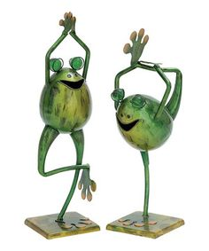 Loving this Yoga Frog Statue Set on #zulily! #zulilyfinds