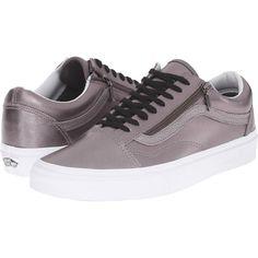 Vans Old Skool Zip Metallic Leather Thistle Purple True White, Vans, Shoes