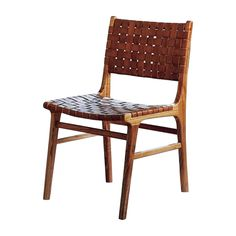 Leather Weaved Dining Chair