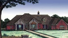 French Country House Plan with 3268 Square Feet and 4 Bedrooms(s) from Dream Home Source | House Plan Code DHSW49116