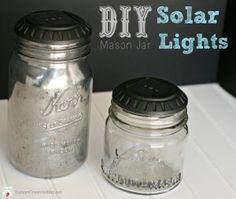 Mason jar solar lights - http://EndlessDIY.com/solar-mason-jar/ #DIY #Masonjar #Solarlights