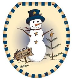 1000 Images About Snowman Toilet Seat Cover On Pinterest