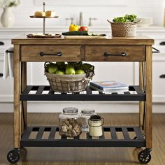 Superb Found It At Wayfair   Roots Rack Kitchen Cart With Wood Top Just Purchased!  Beyond Excited :) Way Less Expensive Than The Similar One From Pottery Barn. Good Ideas