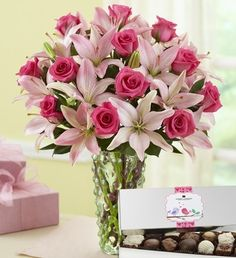 Pink Rose & Lily Bouquet