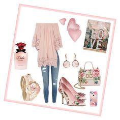 """La vie ne rose ...."" by alexa-78 on Polyvore featuring moda, River Island, Muche Et Muchette, Dolce&Gabbana, Cadran e Casetify"