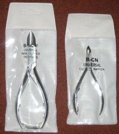 Professional Stainless Steel 2 Piece Deluxe Acrylic Nipper Nail Set Pedicure Cuticle Nippers Cutters by Universal Nutrition. $18.98. Great Nippers for trimming fast and economically. These Nipper Set open fully and are shipped very sharp!. Professional Stainless Steel 2 Piece Deluxe Acrylic Nipper Nail Set Pedicure Cuticle Nippers Cutters. Compare to high priced scissors at a hair salon.. Professional Stainless Steel 2 Piece Deluxe Acrylic Nipper Nail Set Pedicure Cuticle Nippers...