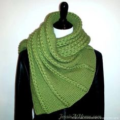 Dropped and Found Knit Wrap/Shawl- via Shawl Patterns, Knitting Patterns Free, Free Knitting, Free Pattern, Knit Cowl, Knitted Shawls, Knitted Scarves, Knitted Fabric, Knit Or Crochet