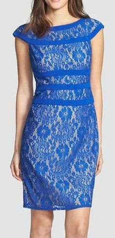 Blue Lace Dress. Reminds me of a cute dress one of the Bells would wear on Hart of Dixie!! @Lauren Rhoades