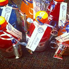 They attached a granola bar to a bottle of Gatorade for their basketball players