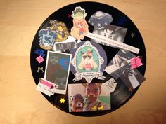 Vinyl reuse DIY collage for friends' birthday :)