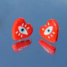 Diy Earrings Polymer Clay, Polymer Clay Crafts, Diy Clay, Clay Art Projects, Cute Clay, Clay Creations, Pottery Art, Ceramic Art, Easy Crafts