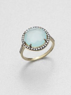 gasp-inducing engagement bling, featuring chalcedony and white sapphires