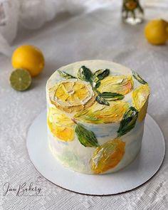 Fancy Cakes, Mini Cakes, Cupcake Cakes, Cupcakes, Pretty Birthday Cakes, Pretty Cakes, Cake Decorating Techniques, Cake Decorating Tips, Painted Cakes