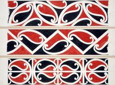 Williams, Herbert William :Designs of ornamentation on Maori rafters. Maori Patterns, Polynesian Art, Maori Tattoo Designs, New Zealand Art, Kids Art Class, Maori Art, Aboriginal Art, Painting Patterns, Artsy
