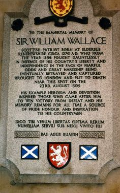 Sir William Wallace, the battle of Stirling bridge, Stirling, Scotland scottish wars of Independence. The Scots were triumphant in this battle, led by Wallace. He was later captured & executed for treason. Stirling, Glasgow, Edinburgh, Outlander, Wallace Monument, Scotland History, England, Photos Voyages, Thinking Day