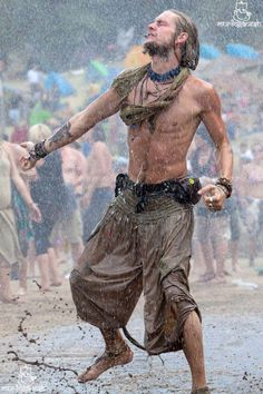 See, I like this. Dance in the rain, dance on the Earth, move with the spirit of life. Let go of conditioning and culture.
