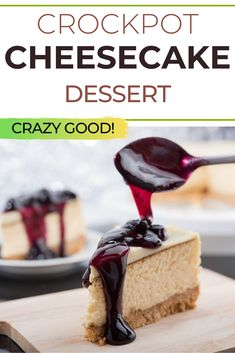 How to make cheesecake in the crockpot. Simple cheesecake recipe. Perfect holiday dessert. Crock Pot Cheesecake, Simple Cheesecake, How To Make Cheesecake, Easy Cheesecake Recipes, Cheesecake Desserts, Dessert Recipes, Cocktail Desserts, Holiday Desserts, Chef Recipes