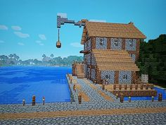 Image result for simple boat house minecraft