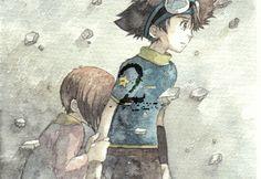 Tai and Kari Kamiya. Digimon Adventure. #anime