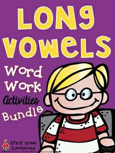 Long Vowels Word Work Activities Bundle. $ Long a, e, i, o, u word work activities. Engaging and fun printables.