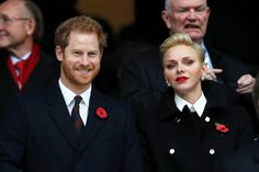 Prince Harry was in attendance for a rugby match between England and South Africa, on Saturday, ahead of U.K. Remembrance Day events
