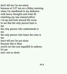 Know ur not alone but away from the people that share ur pain