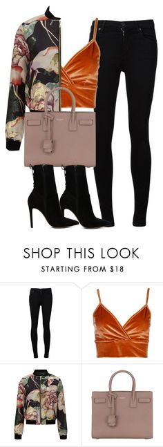 """""""Untitled #4380"""" by maddie1128 ❤ liked on Polyvore featuring Citizens of Humanity, Boohoo, Miss Selfridge, Yves Saint Laurent and ALDO"""