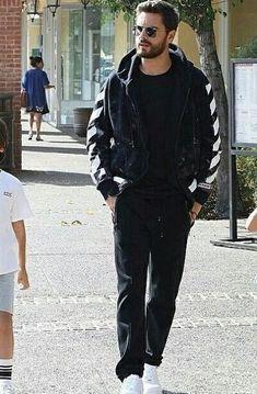 60160b1ffa6 Scott Disick wears an Off-white hoodie for his morning walk Scott Disick  Style