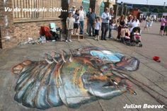 The official website of Julian Beever's pavement art, showing anamorphic illusions in chalk and paint and contact for art commissions, after-dinner speaking / talks. Chalk Artist, 3d Chalk Art, Art 3d, Old Mission Santa Barbara, Pavement Art, Street Painting, 3d Street Art, Chalk Drawings, Illusion Art