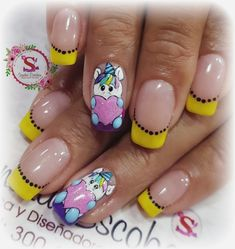 Nail Arts, Acrylic Nails, Manicure, Unicorn, Designed Nails, Work Nails, Short Nail Manicure, Nail Manicure, Short Round Nails
