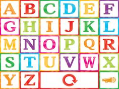 Tappy Alphabet - learn the alphabet and expand your child's vocabulary w/ new words Educational Apps For Kids, Learning Apps, Learning Time, Learning The Alphabet, Alphabet Blocks, 100 Words, Block Lettering, Toddler Preschool, Design Bundles