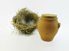 Small Clay Pot with Cork Lid 60x58 mm Clay Pot by ShopToCreate
