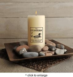 Personalized Cabin Series Candle - Available in 9 Designs