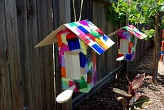 Collage Birdhouses {Tutorial} - Happiness is Homemade