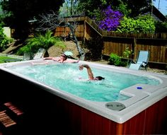 endless pool & spa. A must have for cold climate.