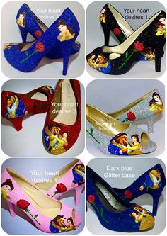 Beauty and the beast shoes custom wedding prom cosplay Source by sillyboymoreno shoes wedding The Effective Pictures We Offer You About Wedding Beauty routine A quality picture can tell you man Beauty And The Beast Wedding Dresses, Beauty And The Beast Theme, Wedding Beauty, Dream Wedding, Disney Heels, Vans Shoes Fashion, Princess Silhouette, Hand Painted Shoes, Unique Shoes