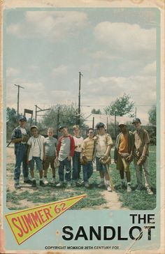 The Sandlot is probably one of the only baseball movies I actually like. Movies Showing, Movies And Tv Shows, Yolo, Baseball Movies, Baseball Mom, Baseball Players, Baseball Tees, Baseball Season, Baseball Cards