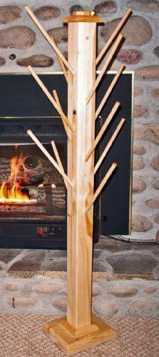 Wood Mitten Rack