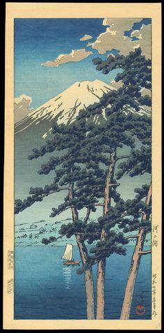 "Lake Kawaguchi | Item Details for Hasui, Kawase (1883-1957) ""Lake Kawaguchi"""