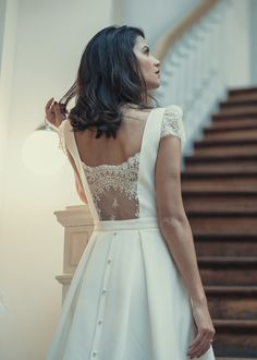 #Robes de #Mariée : robe Boissy ! #Collection #Civile 2018 de #LauredeSagazan #mariage #wedding #weddingdress #dress !