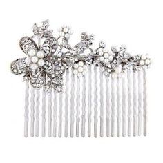 Graceful Pearl Hair Comb - Hair Accessories - Glitzy Secrets
